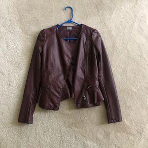 Neiman Marcus Cusp Non Leather Maroon Jacket